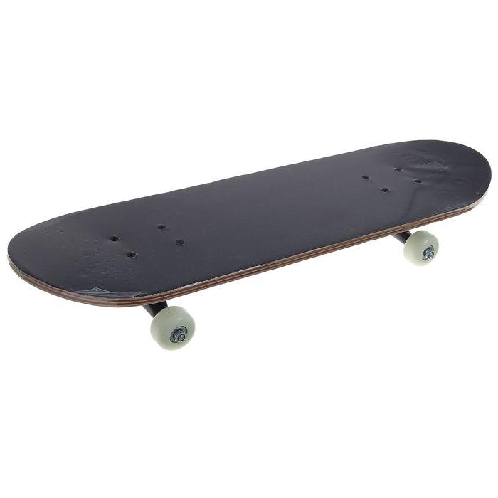 "Скейтборд 28*8"", колеса PVC 50*30 мм, пластиковая рама, китайский клен 9 слоев"