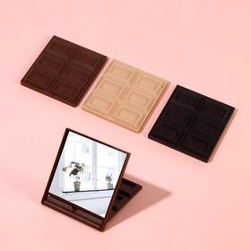 """Зеркало компактное """"Шоколадное чудо"""" маленькая плитка, цвета МИКС"""