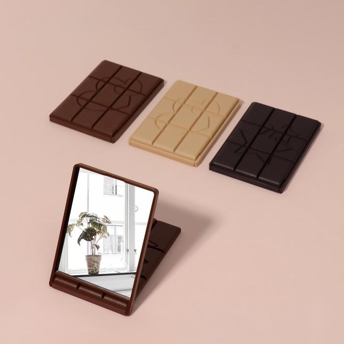 """Зеркало компактное """"Шоколадное чудо"""", цвета МИКС"""
