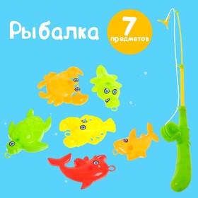 "Fishing ""Caught a fish"": fishing rod, 6 fish MIX"