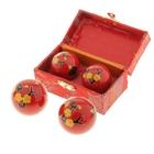 """Поющие шары Баодинга (шары здоровья) (набор 2шт) d=3,5 см """"Сакура"""", цвета МИКС"""