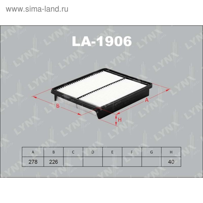Фильтр воздушный LYNXauto LA1906