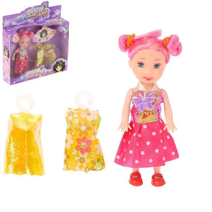 Кукла малышка с 2 платьями, МИКС