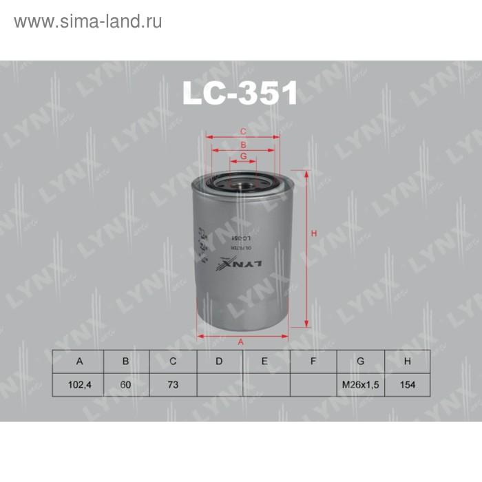Фильтр масляный LYNXauto LC351