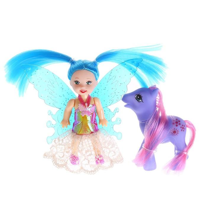 """Кукла малышка """"Фея"""" с пони, МИКС"""