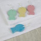 Пемза для педикюра «Рыба», 9,5 × 5,8 см, цвет МИКС