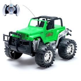 Машина радиоуправляемая «Джип», работает от батареек, цвет зелёный