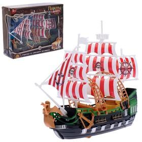 Набор пиратов «Пираты черного моря», работает от заводного механизма