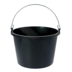 Ведро строительное, 12 л, цвет чёрный