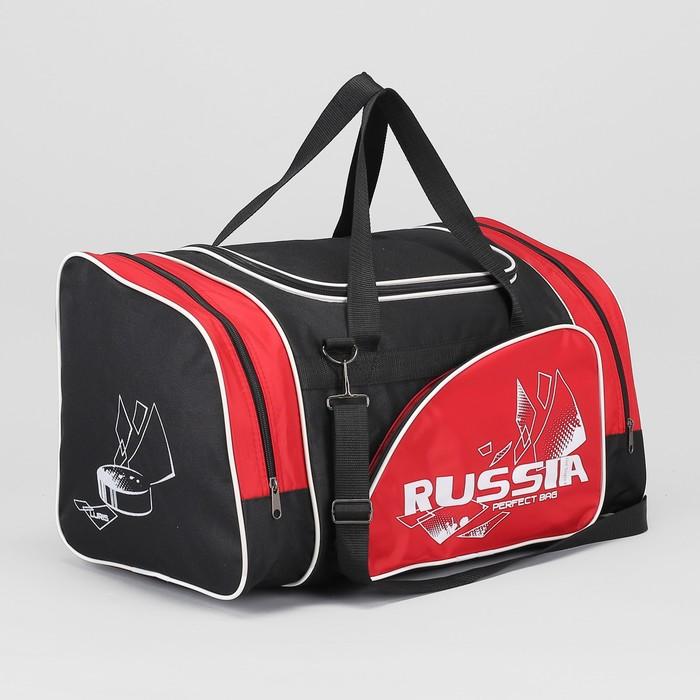 Сумка спортивная, отдел на молнии, наружный карман, регулируемый ремень, цвет чёрный/красный