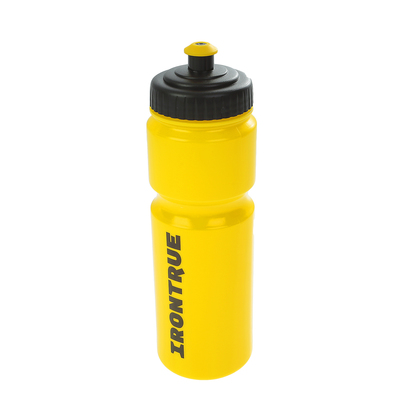 Бутылка IRONTRUE мягкая крышка sport-cap (Черный-Желтый) 750мл.