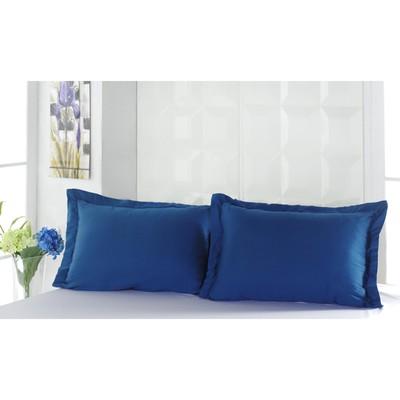 Наволочка Servan, размер 50х70 см-2 шт.. цвет синий, сатин 120 г/м2 220/11