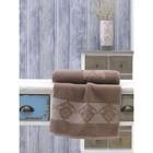 Полотенце Dora, размер 50х90 см, цвет коричневый, махра 380 г/м2 2748