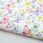 Бумага упаковочная глянцевая «Светлые бабочки», 70х100 см