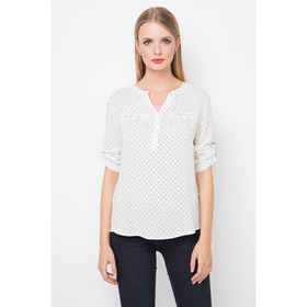 Блузка женская 16136-7, цвет белый, р-р 48 рост 175
