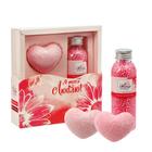 """Подарочный набор """"Я тебя люблю"""": жемчужины для ванн, 2 фигурных бурлящих шара"""