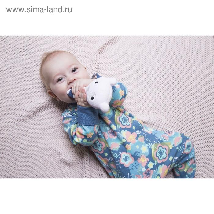 Комбинезон для девочки, рост 74 см, цвет тёмно-синий 171-007-38