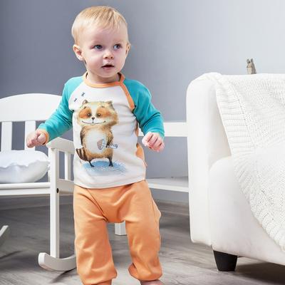Штанишки для мальчика, рост 62 см, цвет персиковый 172-003-03