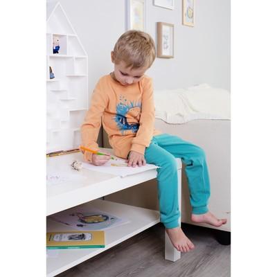 Пижама для мальчика, рост 134 см, цвет персиковый/бирюзовый 172-245-03