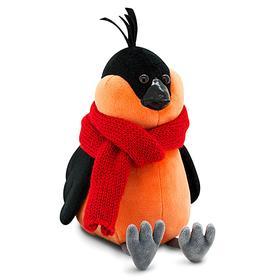 Мягкая игрушка «Снегирь» в красном шарфе, 20 см