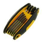 Ключи Torx TOPEX, CrV, 8 шт., T9-40, антискользящая пласт. рукоятка