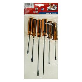 Отвёртки Top Tools, набор 6 шт, пластиковая рукоятка, 3 × SL, 3 × PH - фото 7428098