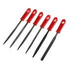 Надфили Top Tools, набор 6 шт., 140 мм, для работы с металлом, с ручкой
