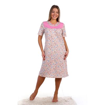 Сорочка женская НС163 цвет МИКС, р-р 56