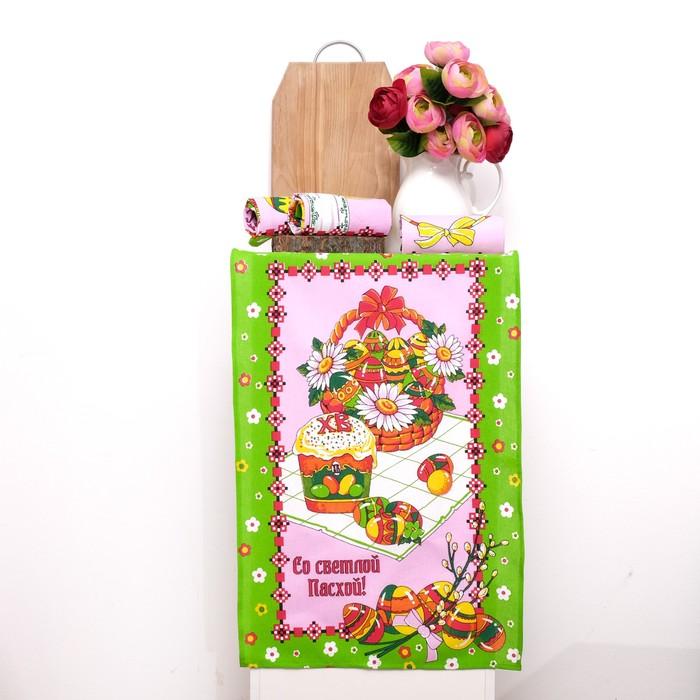 Набор полотенец DomoVita ПАСХА, цвет зелёный, 50х70 см 4 шт в коробке