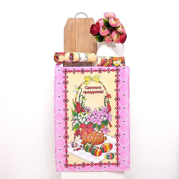 Набор полотенец DomoVita ПАСХА, цвет розовый, 50х70 см 4 шт в коробке