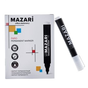 Маркер перманентный 2.0 мм, FARO, чёрный, M-5002