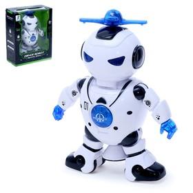 """Robot """"Dancer"""", drives, random movement, light and sound effects, runs on batteries"""
