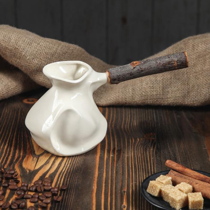 """Турка для кофе с деревянной ручкой 0,5 л """"Органик"""", микс"""
