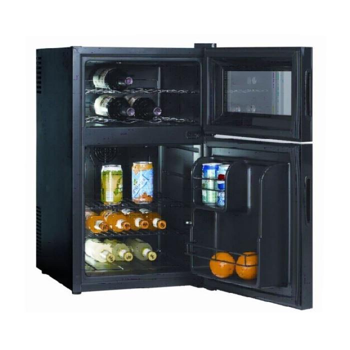 Винный шкаф GASTRORAG BCWH-68, 44 л, 8 бутылок х 0.75 л, 2 секции, +8 до +18°С, чёрный