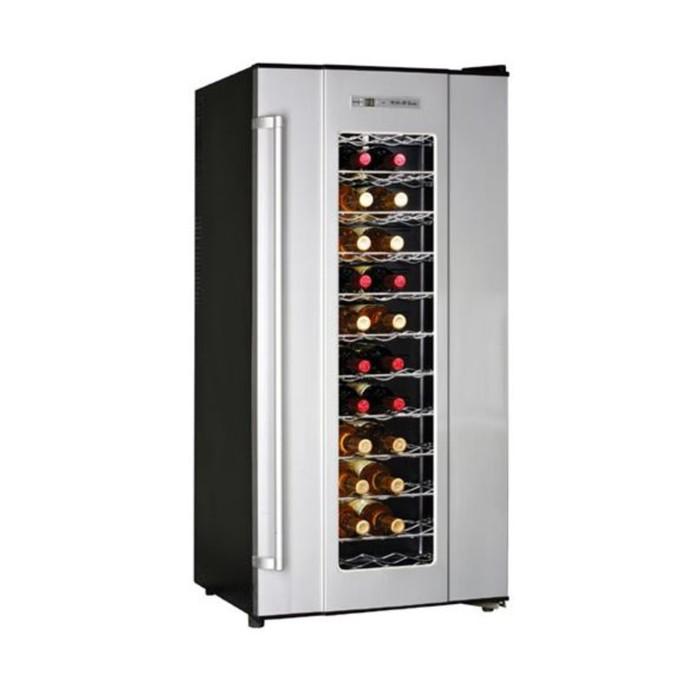 Винный шкаф GASTRORAG JC-180A, 180 л, 72 бутылки х 0.75 л, +12 до +18°С, подсветка, чёрный