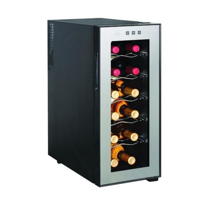 Винный шкаф GASTRORAG JC-33C, 33 л, 12 бутылок х 0.75 л, +12 до +18°С, подсветка, чёрный
