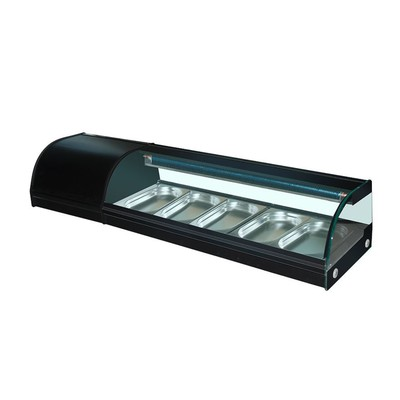 Витрина GASTRORAG VRX-SSS1500, для суши, 250 Вт, от 0 до +6°С, 5 гастроемкостей GN 1/3-25 мм