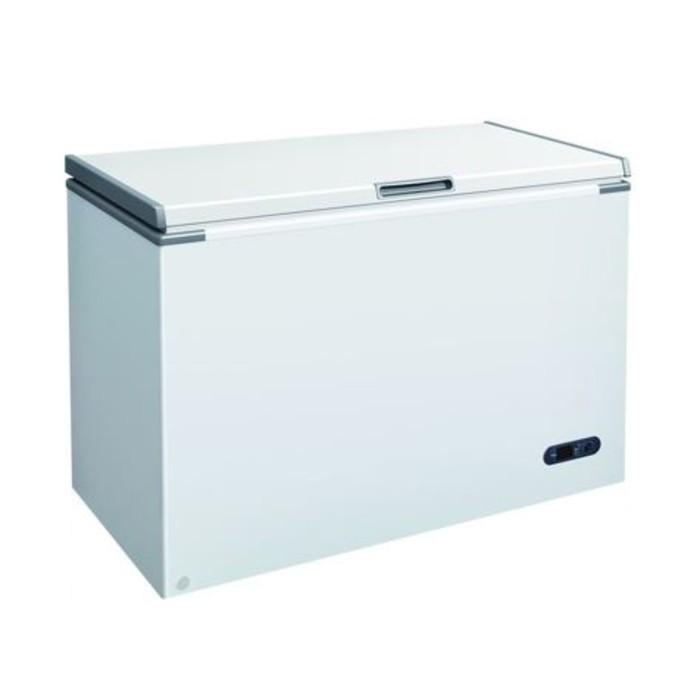 Морозильный ларь GASTRORAG F300, 130 Вт, 304 л, -18 до -25°С, глухая крышка с замком, белый
