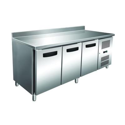 Холодильный стол GASTRORAG GN 3200 TN ECX, 290 Вт, 450 л, -2 до +8°С, 3 двери, рабочая зона