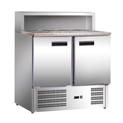 Холодильный стол GASTRORAG PS900 SEC, для пиццы, 270 Вт, 285 л, +2 до +8°С, серебристый