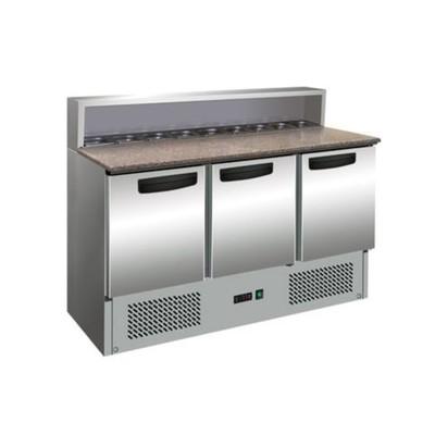 Холодильный стол Gastrorag PS903 SEC, для пиццы, +2 до +8°С, 400 л, серебристый
