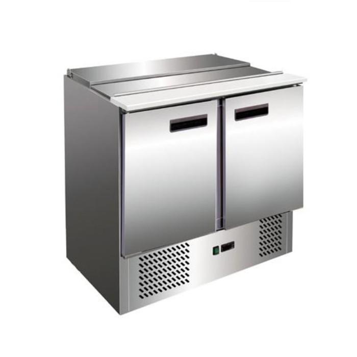 Холодильный стол Gastrorag S900 SEC, для салатов, +2 до +8°С, 260 л, серебристый