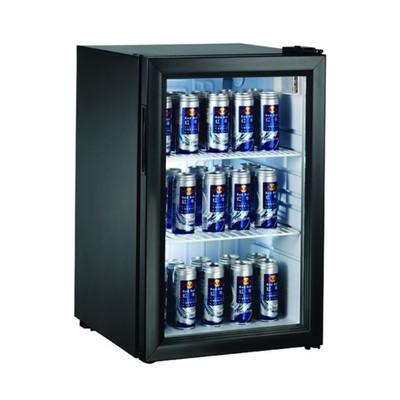 Холодильный шкаф Gastrorag BC68-MS, витринного типа, 0 до +10°С, 68 л, черный