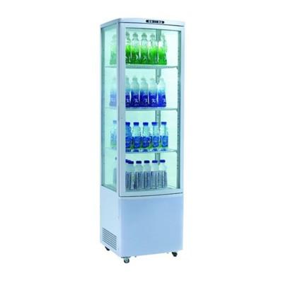 Холодильный шкаф GASTRORAG RT-235W, витринного типа, 250 Вт, 235 л, от 0 до +12°С, подсветка