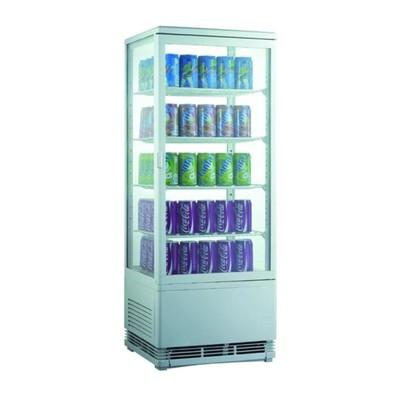 Холодильный шкаф Gastrorag RT-98W, витринного типа, 0 до +12°С, 96 л, белый