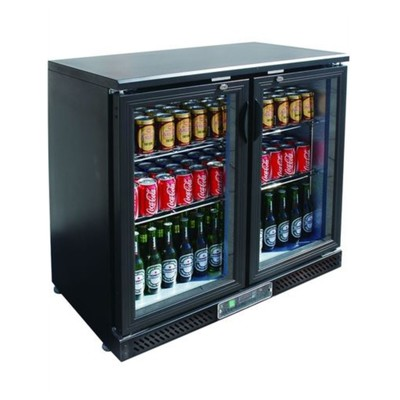 Холодильный шкаф Gastrorag SC248G.A, витринного типа, +2 до +8°С, 202 л, черный
