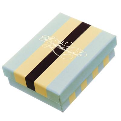 Подарочная коробочка под кулон/серьги/кольцо с тиснением«Брызги шампанского», 7 х 9 х 2,8 см