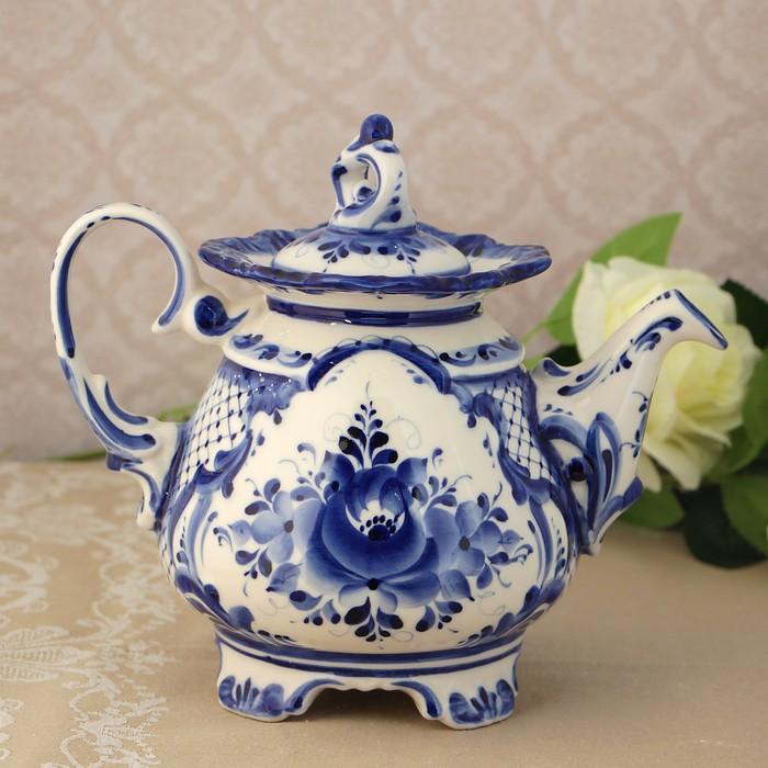 Чайник «Сказка», 22х15х23 см, гжель