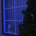 "Гирлянда ""Занавес"" улич. УМС, 2х6 м, каучук Н.Т, LED-1520-220V, шнур пит. Н.Т, СИНИЙ Уценка"