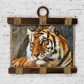 "Souvenir scroll ""Tiger """